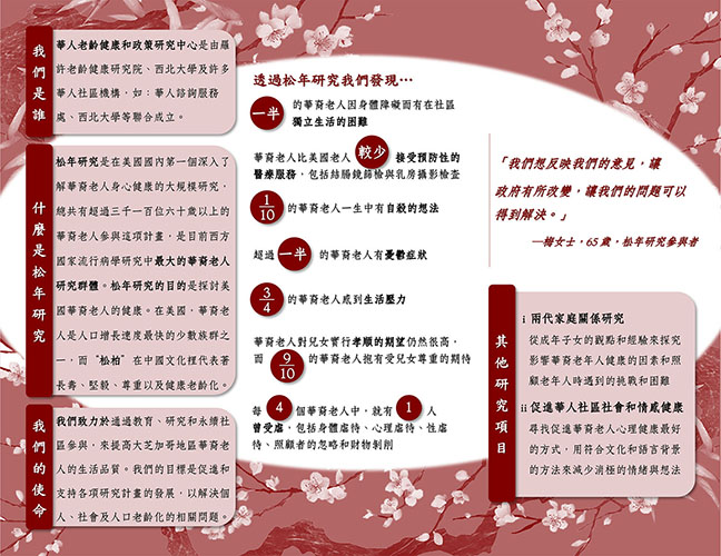The PINE Study Brochure Back in Chinese